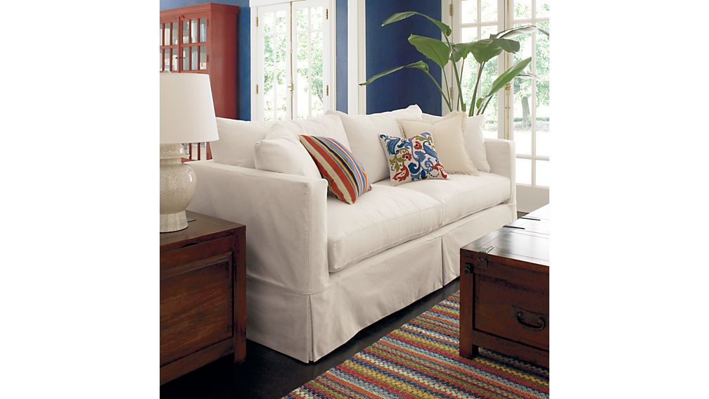 Willow White Sleeper Couch Crate and Barrel