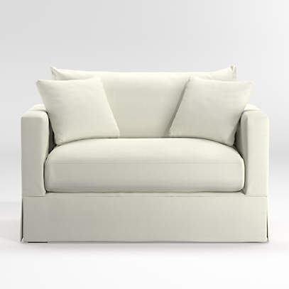 Willow White Twin Sleeper Sofa + Reviews | Crate And Barrel