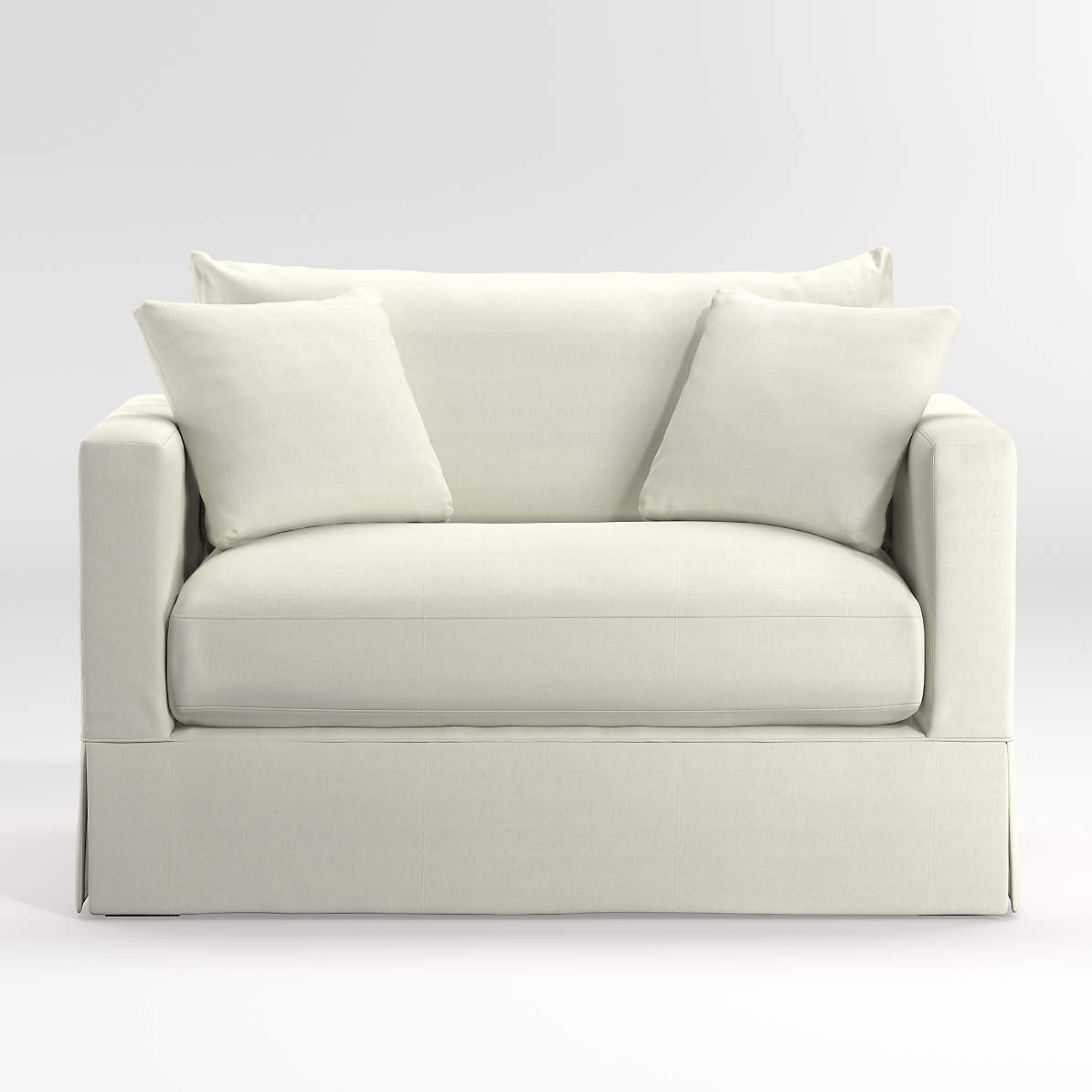 Willow White Twin Sleeper Sofa Reviews Crate And Barrel