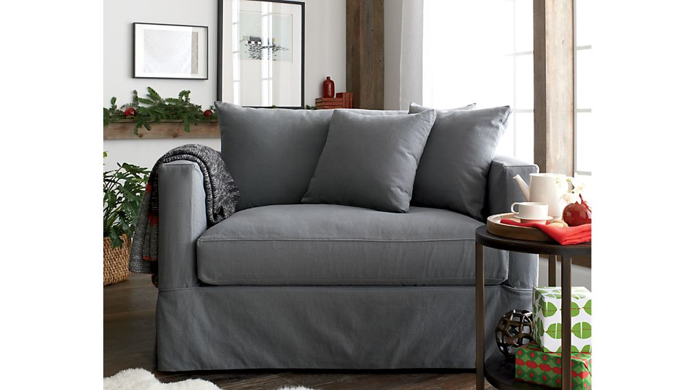 Willow Grey Twin Sofa Sleeper With Air Mattress Crate