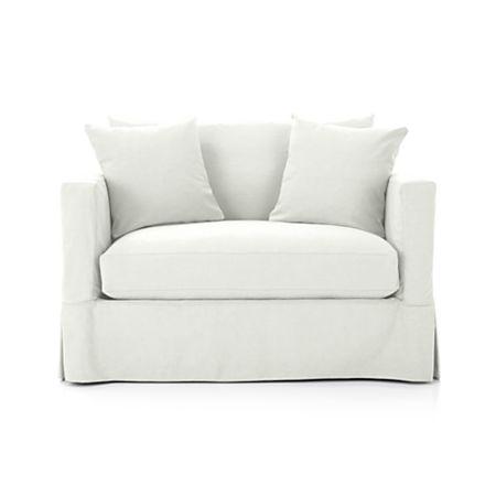 Modern Slipcovered Twin Sleeper Sofa