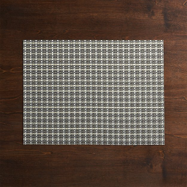 Chilewich ® Windowpane Grey Vinyl Placemat - Image 1 of 5