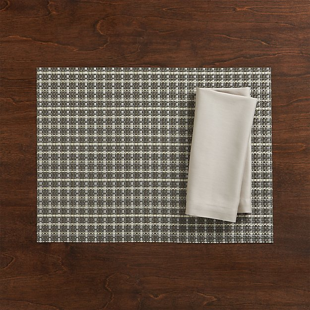 sc 1 st  Crate and Barrel & Chilewich Windowpane Grey Vinyl Placemat + Reviews | Crate and Barrel