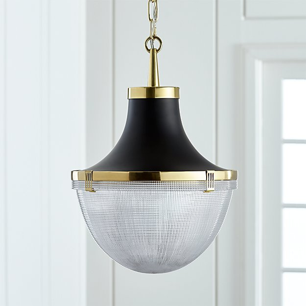 Windsor brass pendant reviews crate and barrel