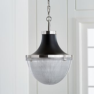 nickel pendant lighting crate and barrel