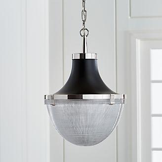 Pendant lighting and chandeliers crate and barrel windsor polished nickel pendant aloadofball Images