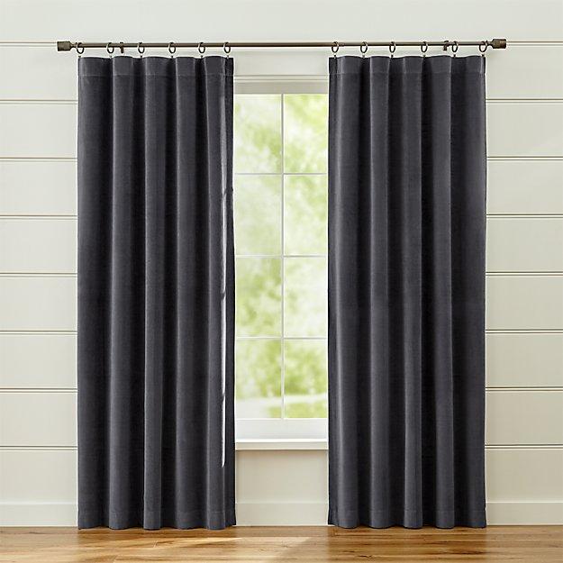 Windsor Dark Grey Curtains Crate And Barrel