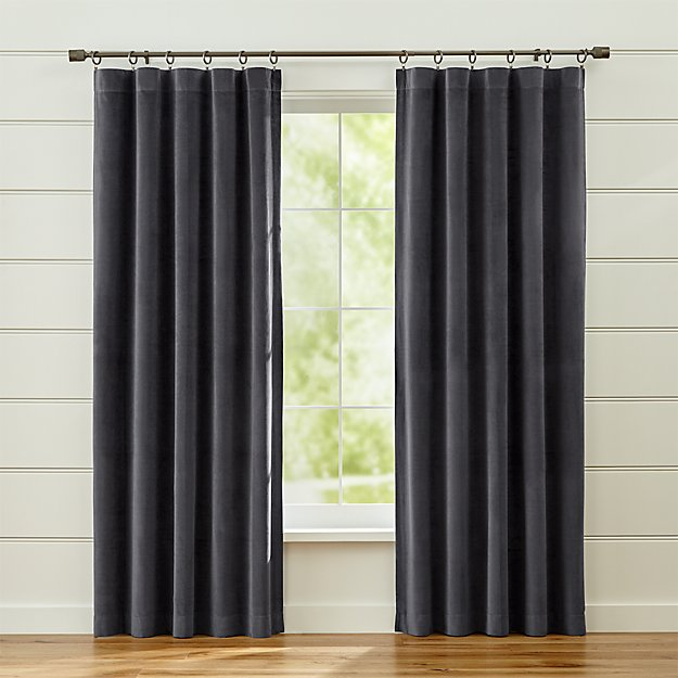 Windsor Dark Grey Curtains Crate And Barrel