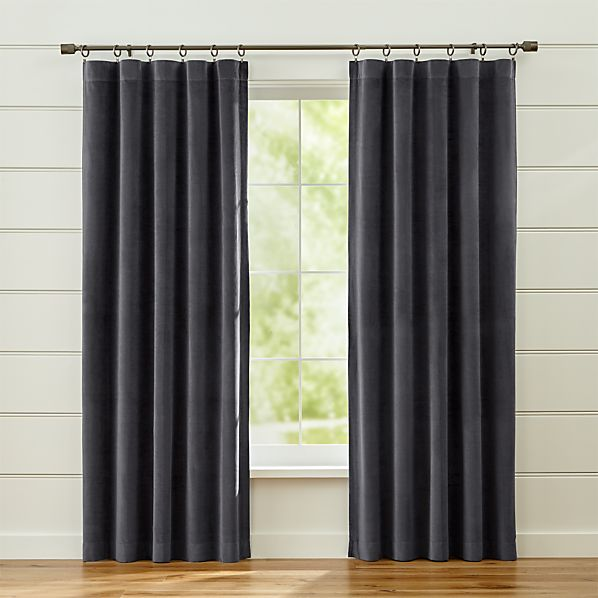 WindsorDarkGreyCurtainPanel48x84SHF16