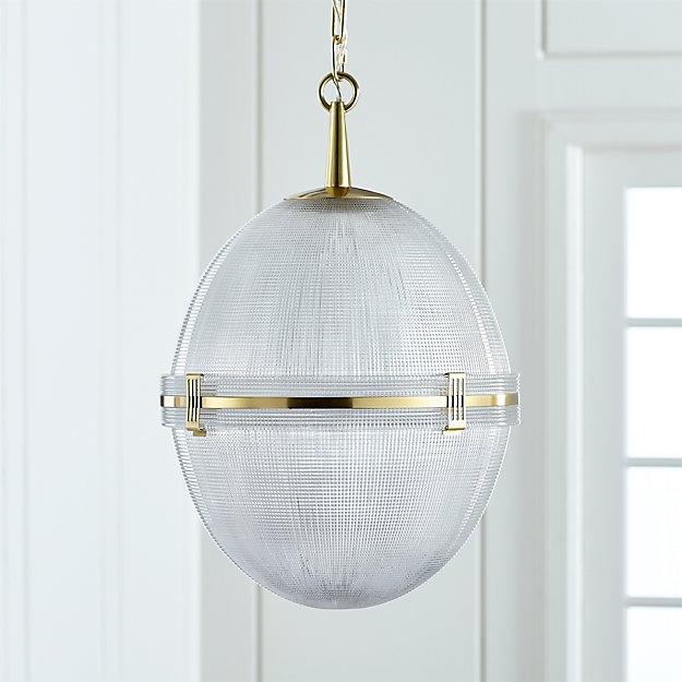 Windsor Glass Globe Brass Pendant