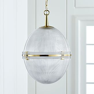 Windsor Glass Globe Brass Pendant