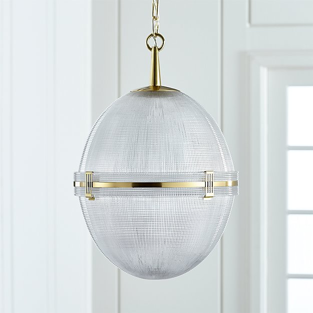 Windsor glass globe brass pendant reviews crate and barrel