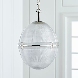 Pendant lighting and chandeliers crate and barrel windsor glass globe polished nickel pendant aloadofball Images