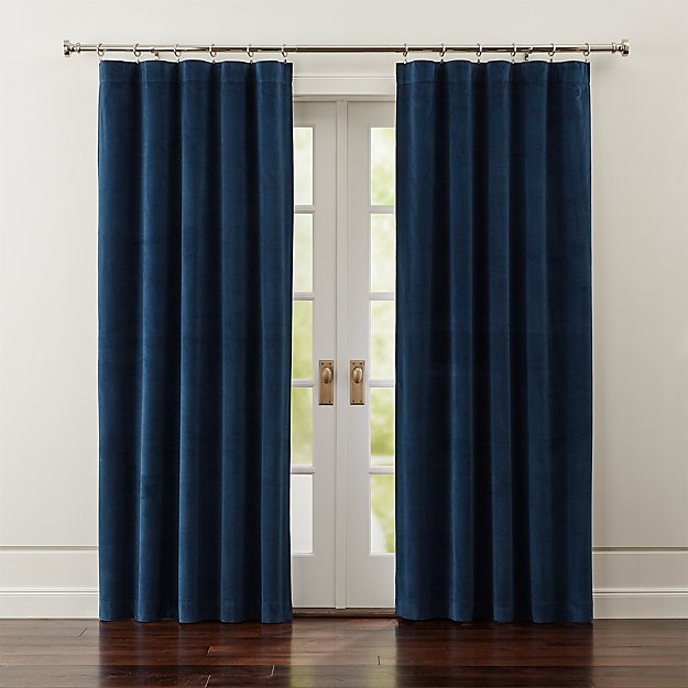 Windsor Blue Velvet Curtains Crate And Barrel