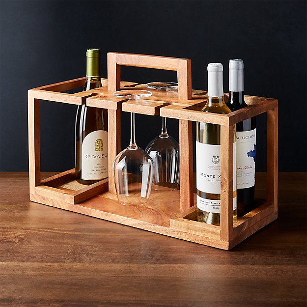 Wine Bottle and Glass Caddy - Image 1 of 3