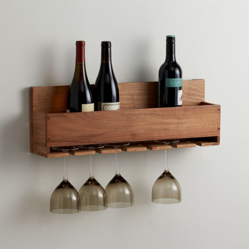crate wine rack wine stem rack crate and barrel 30215