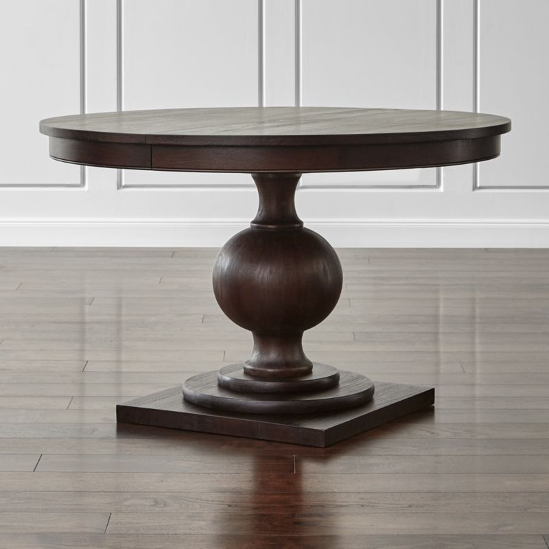Winnetka Light Mahogany Round Extendable Dining Tables Crate and