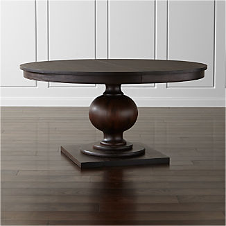 Winnetka Dark Mahogany Round Extendable Dining Tables