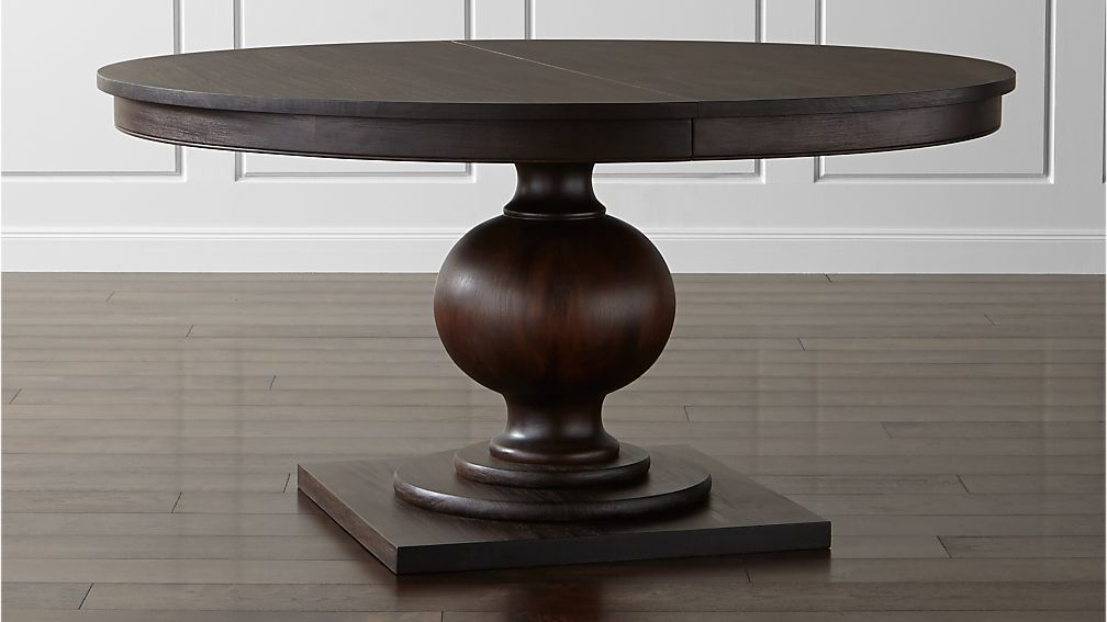 "Winnetka 60"" Round Dark Mahogany Extendable Dining Table - Image 1 of 11"