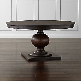 "Winnetka 60"" Round Dark Mahogany Extendable Dining Table"
