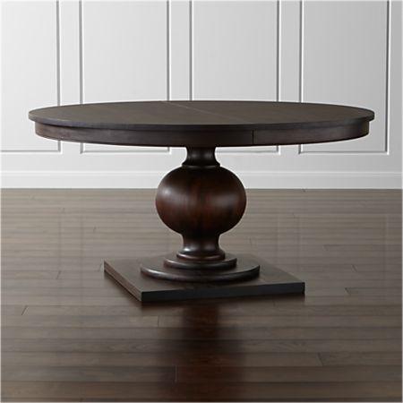 Winnetka 60 Round Dark Mahogany Extendable Dining Table