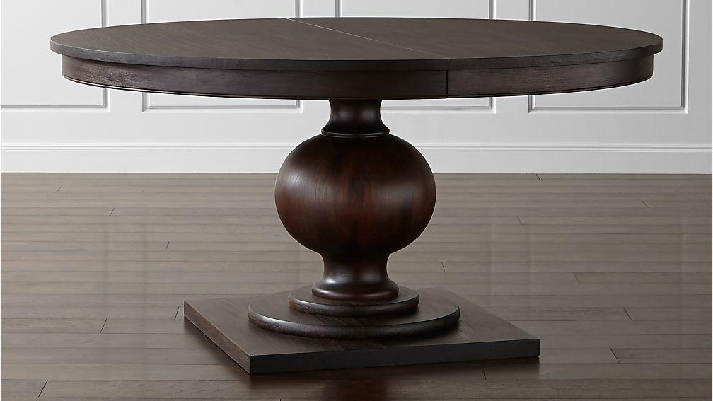 Winnetka Dark Mahogany Round Extendable Dining Tables