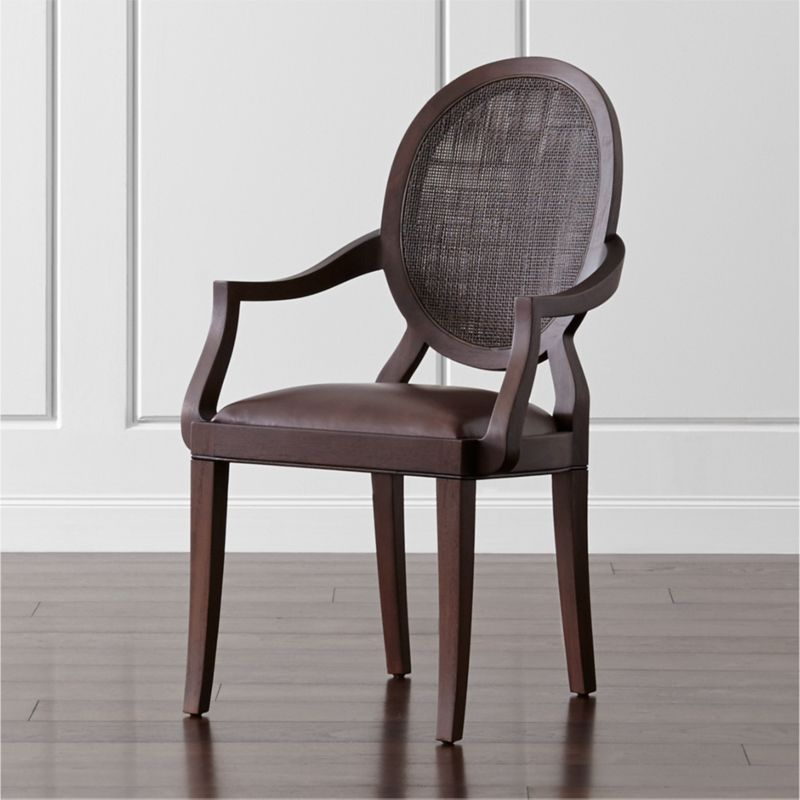 Dining Arm Chairs winnetka dark mahogany dining arm chair | crate and barrel