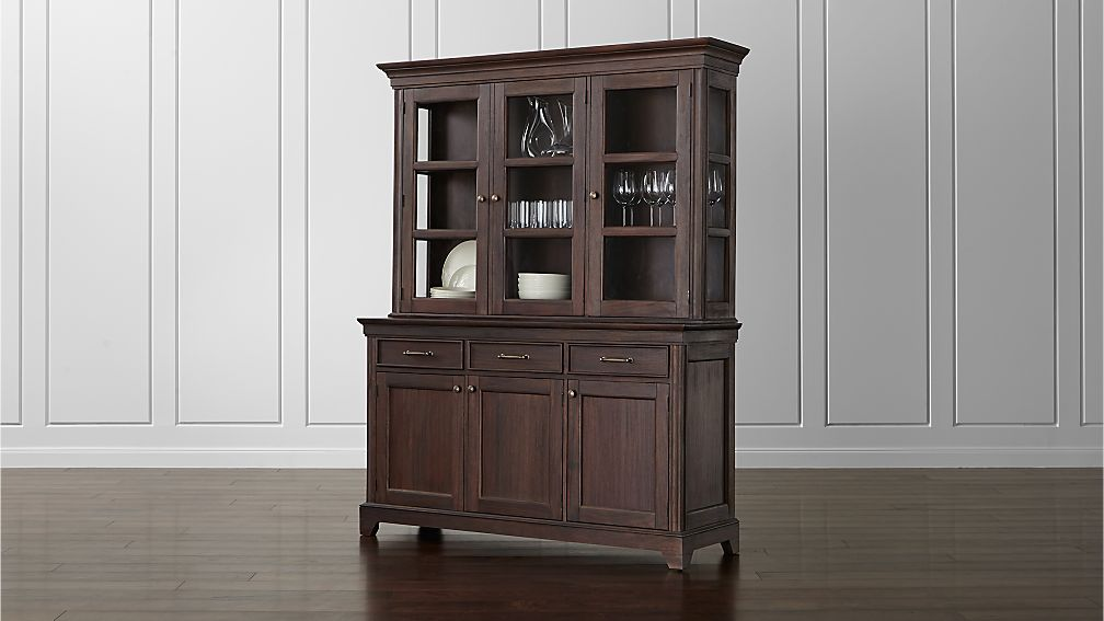 Winnetka Dark Mahogany Buffet With Hutch