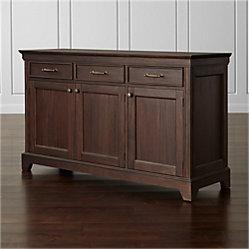 winnetka light mahogany buffet crate and barrel. Black Bedroom Furniture Sets. Home Design Ideas