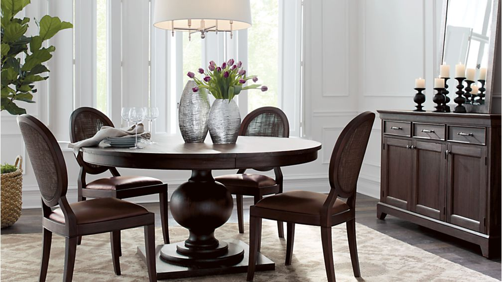 Winnetka Dark Mahogany Round Extendable Dining Tables | Crate And Barrel Part 93