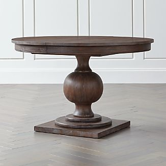 "Winnetka 48"" Round Light Mahogany Extendable Dining Table"
