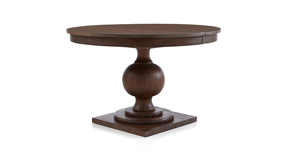 Winnetka 48quot Round Light Mahogany Extendable Dining Table  : webzoomfurnavamp180208105257ampwid1008amphei567 from www.crateandbarrel.com size 1008 x 567 jpeg 19kB