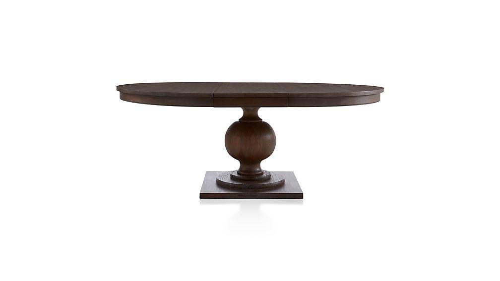 "Winnetka 48"" Round Light Mahogany Extendable Dining Table"