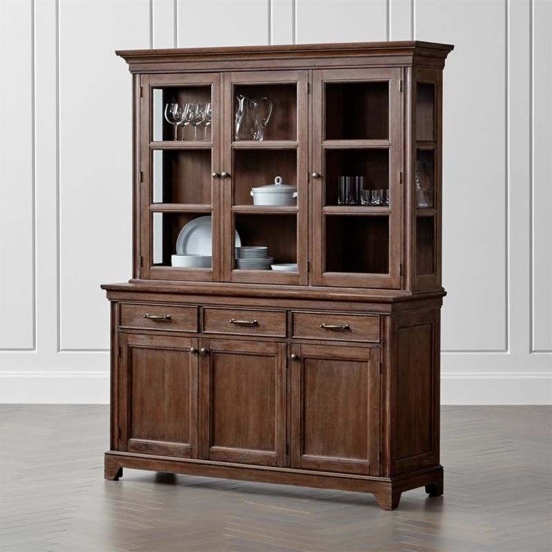 Winnetka Light Mahogany Buffet With Hutch