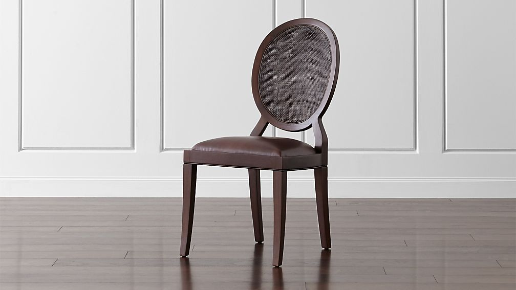 winnetka dark mahogany dining side chair