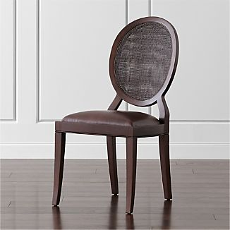 Winnetka Dark Mahogany Dining Side Chair & Wicker Dining Chairs | Crate and Barrel