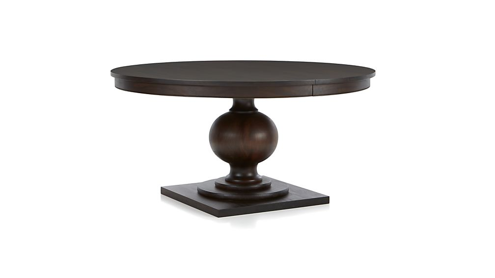 "Black Extendable Dining Table winnetka 48"" round dark mahogany extendable dining table 