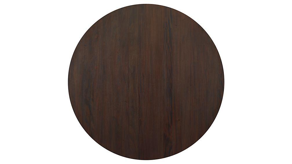 "Winnetka 60"" Round Dark Mahogany Extendable Dining Table"