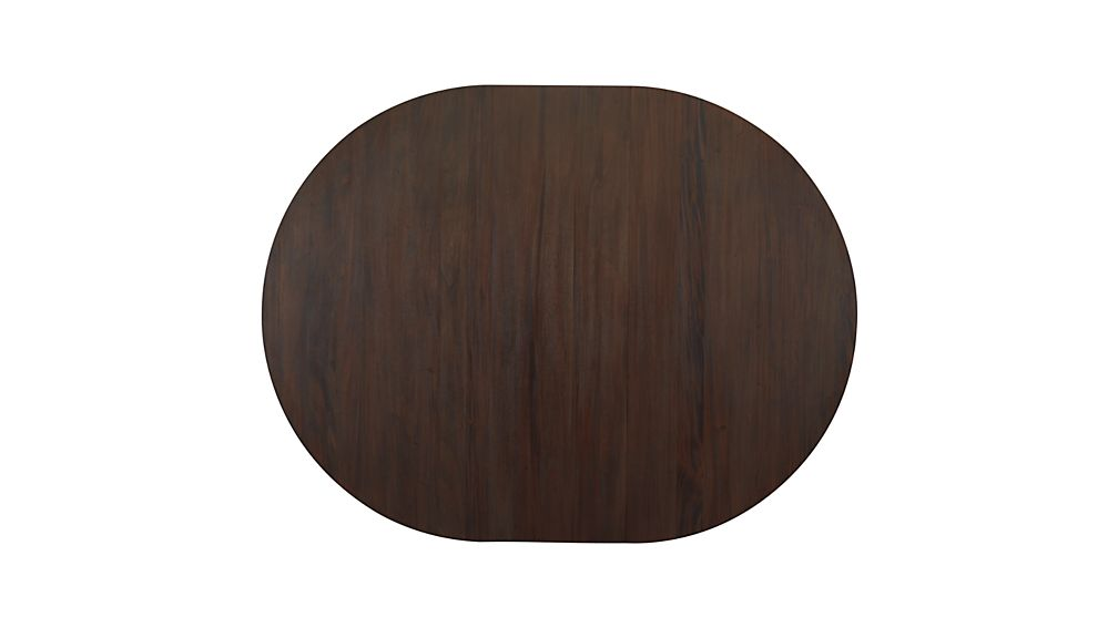 "Winnetka 48"" Round Dark Mahogany Extendable Dining Table"