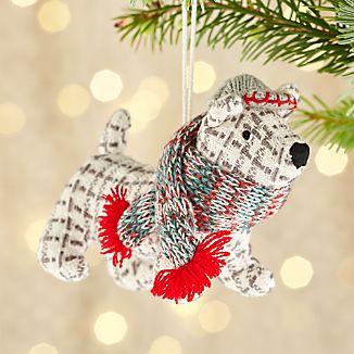 Winston the Dog Tartan Ornament