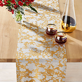 Winter Floral Table Runner 120""