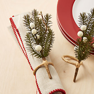 Winter Sprig Napkin Ring