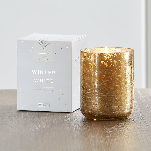 Winter White Scented Mercury Glass Candle - Image 1 of 9