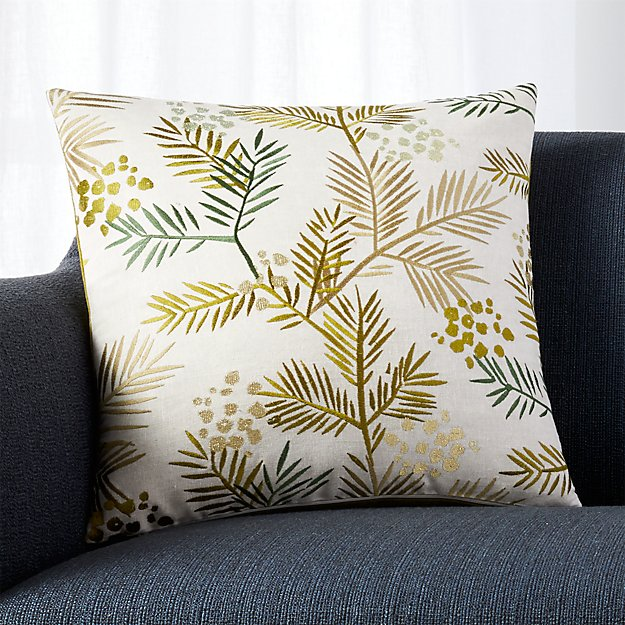 "Winterberry 18"" Pillow with Feather-Down Insert"