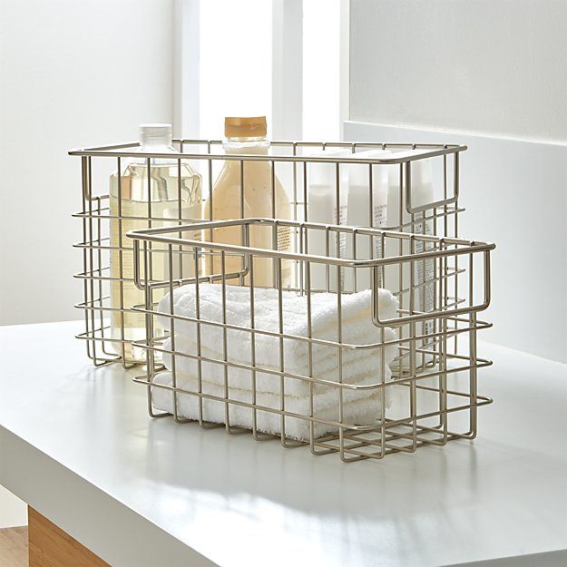 Nickel Wire Baskets | Crate and Barrel