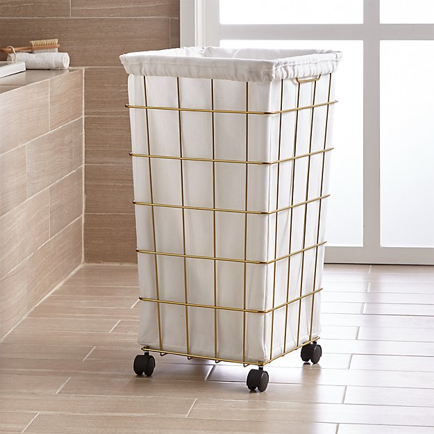 Brass wire hamper with wheels and liner crate and barrel - Superhero laundry hamper ...