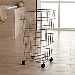 Nickel Wire Hamper with Wheels