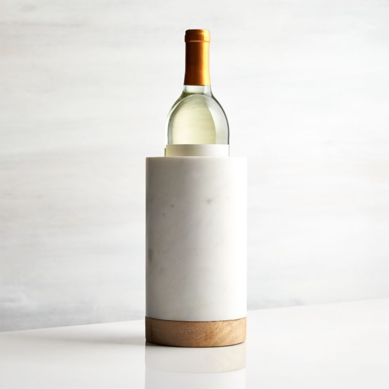 Wood Marble Wine Cooler Reviews Crate And Barrel