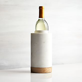 Wood Marble Wine Cooler
