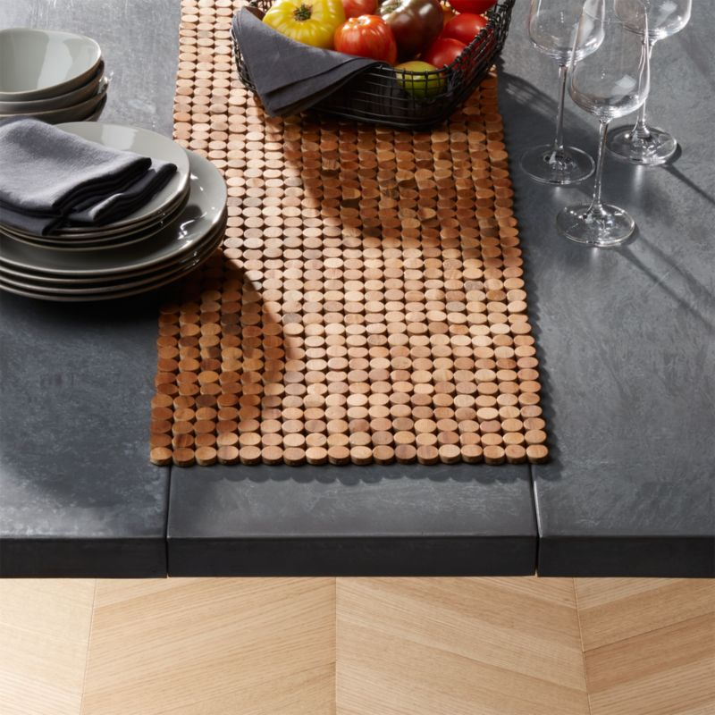 Wood Dot Centerpiece Table Runner Reviews Crate And Barrel
